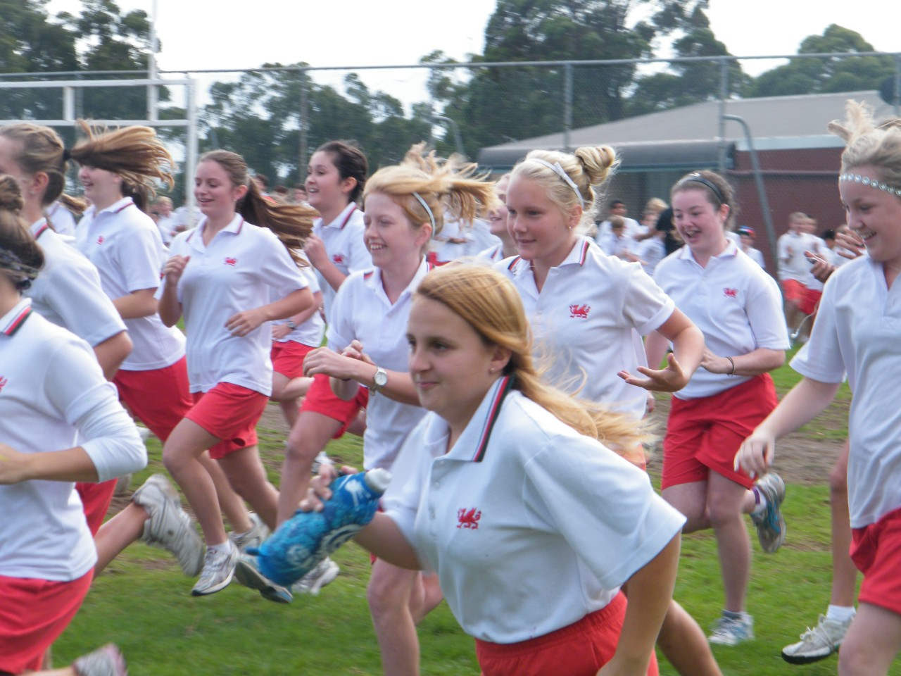 The girls are off and running at the school cross-country carnival.