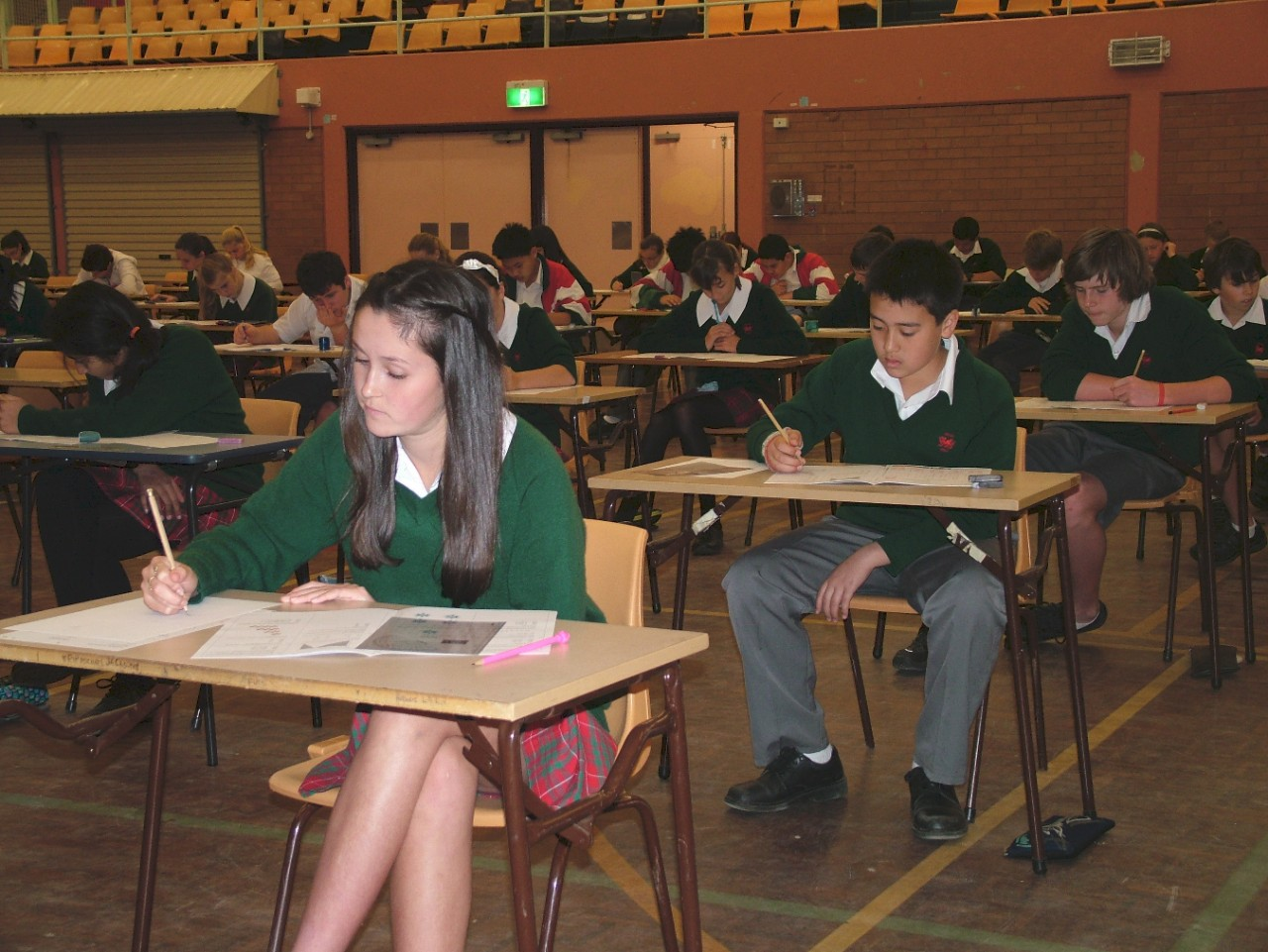 Students attempting the annual Mathematics competition